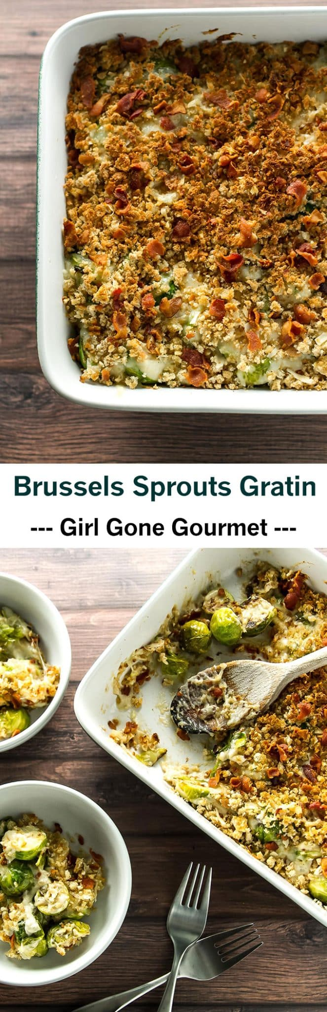 decadent Brussels sprouts gratin with a creamy Gruyere cheese sauce ...