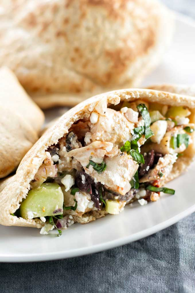 Greek Pitas with Grilled Chicken