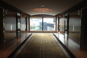 Lift lobby at Crown Towers