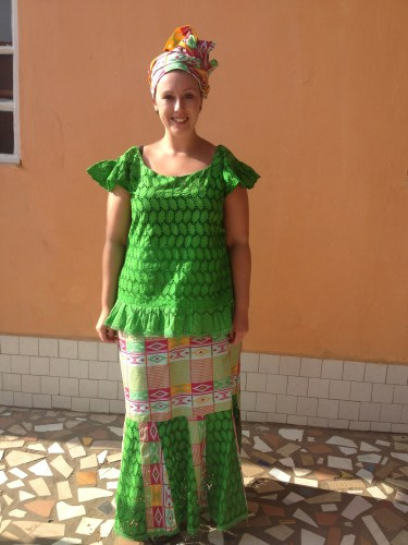Me in Gambian dress