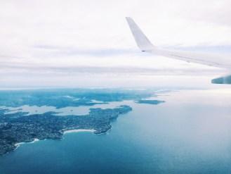 flying over sydney