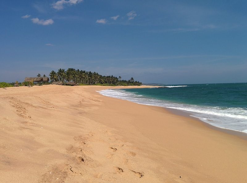 Where is everybody? A very unspoilt beach in Tangalle