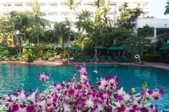 Pretty pool area at Anantara Riverside Bangkok Resort