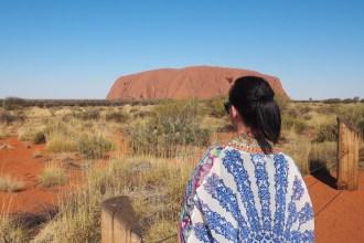 First glimpse of Uluru