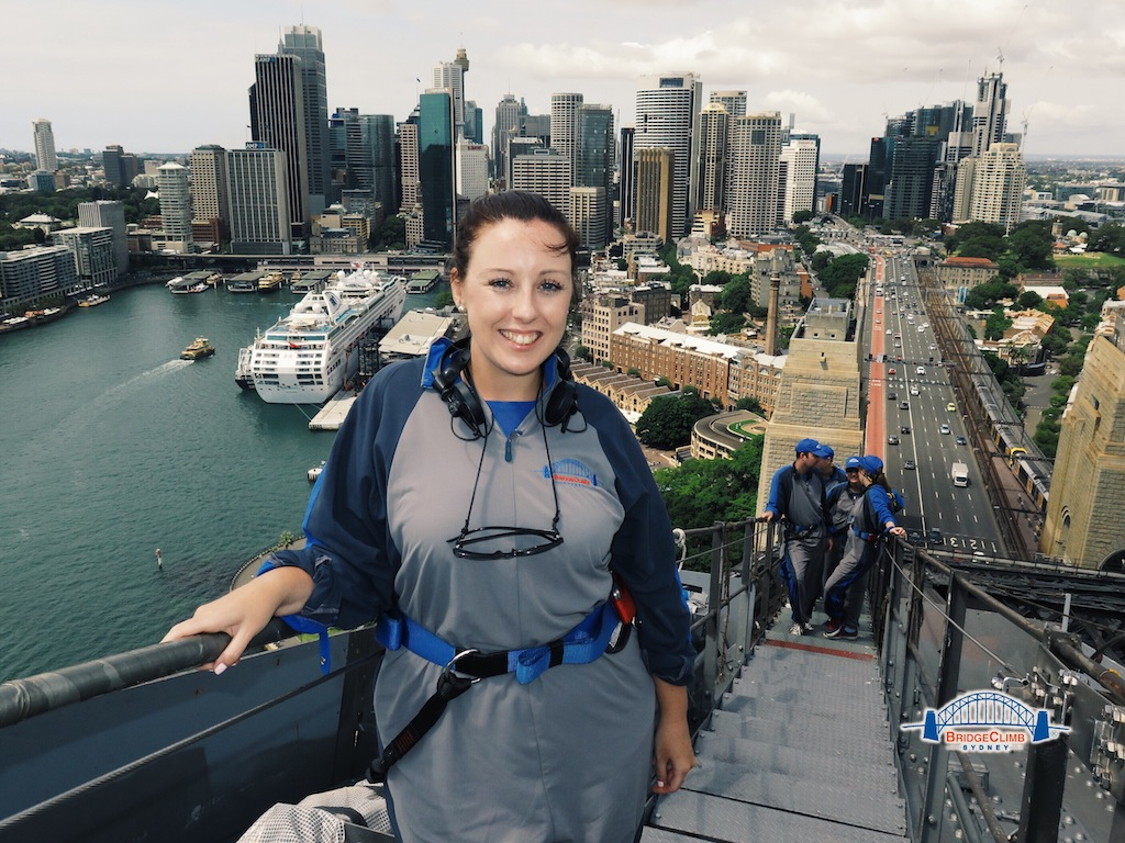 Fab views of Sydney CBD - not so sure about my boilersuit though!