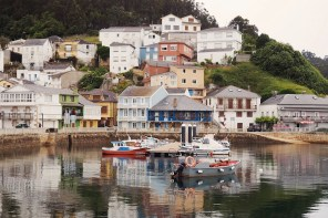 Typical fishing village in Galicia