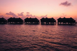 Sunset at Coco Bodu Hithi Maldives