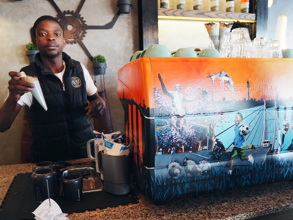 #coffeeinacone from The Grind Coffee Company in Johannesburg