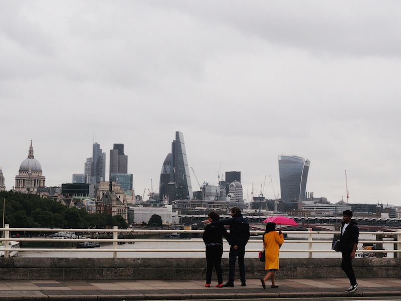 London in the rain - the one thing I don't miss!