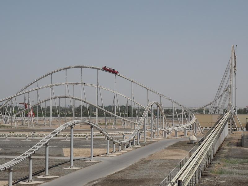 Fastest roillercoaster in the world at Ferrari World Abu Dhabi