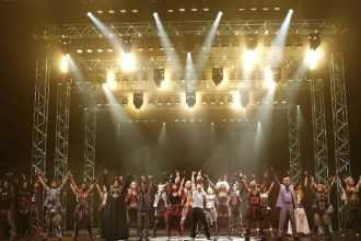The cast of We Will Rock You, photo by Jeff Busby