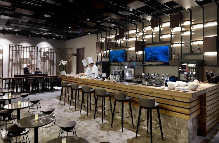 Plaza Premium Lounge at LHR T2 Arrivals. Image source.