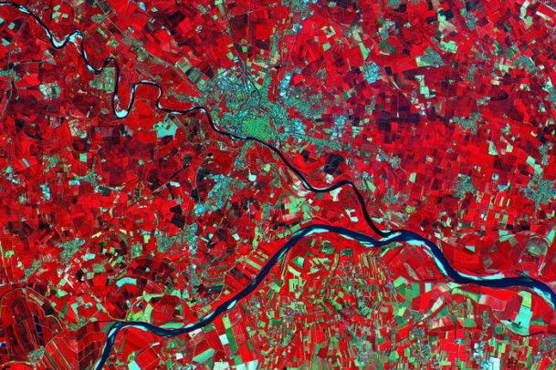 Po Valley, Italy.  Credit: ESA