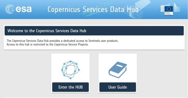 Copernicus Services Data Hub-Sentinels Data