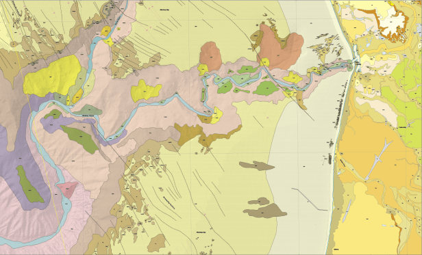 Geologic Map of Monterey Canyon and the Soquel Canyon tributary