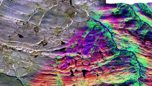 Hyperspectral data cube of part of the Cape Smith Belt in Northern Canada