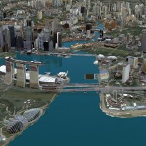 Singapore Land Authority 3D Smart Nation Map; Credit: Esri Singapore