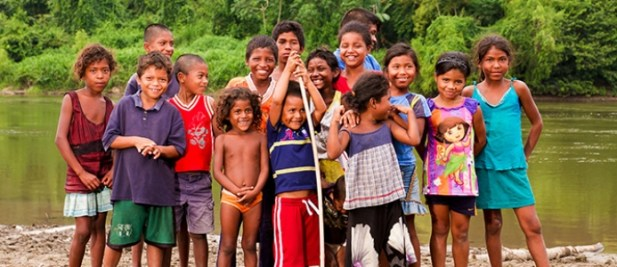 Children of Wiswis, a small village in Nicaragua, are beneficiaries of an EU-funded disaster risk reduction project. © European Union/ECHO/Silvio Balladares