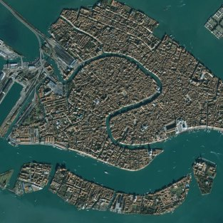 A satellite image of Venice. Credit: Telegraph.co.uk