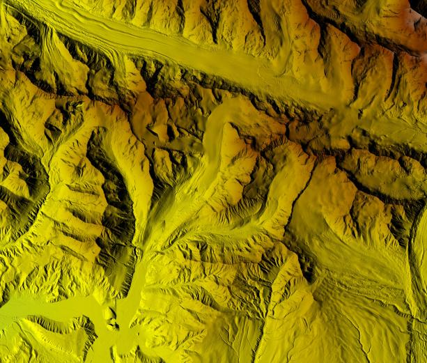 The Gulkana Glacier and river valley region is one of three long-term U.S. Geological Survey glacial monitoring sites. These new digital elevation model images will help anticipate future landscape-level changes, due to, for instance, erosion, extreme events, or climate change.