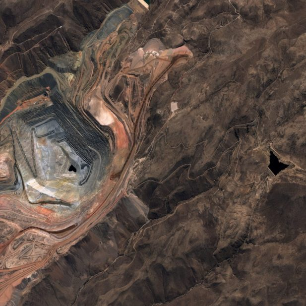 PerúSAT-1 image from copper open mine Cuajone - Copyright CONIDA 2016