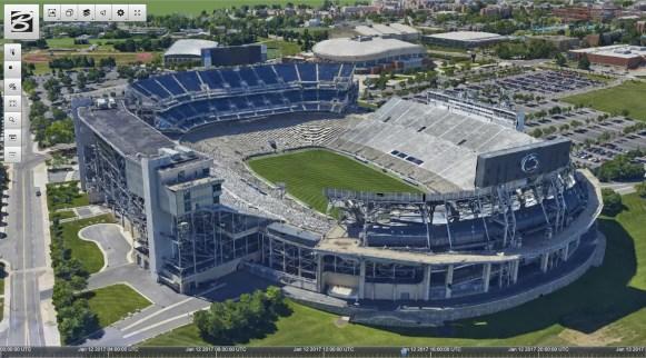 Beaver Stadium at Penn StateImage courtesy of the Cesium Consortium.