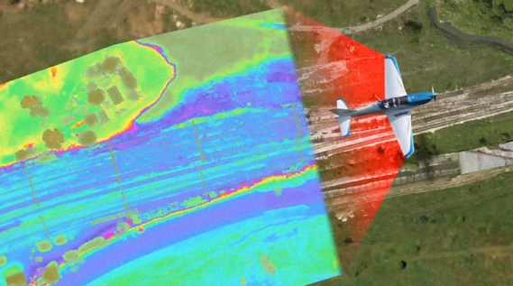 aerial LiDAR survey of rail corridor