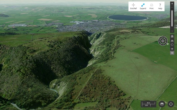 Aerial 3D image of Cheddar Gorge-Aerial-3D