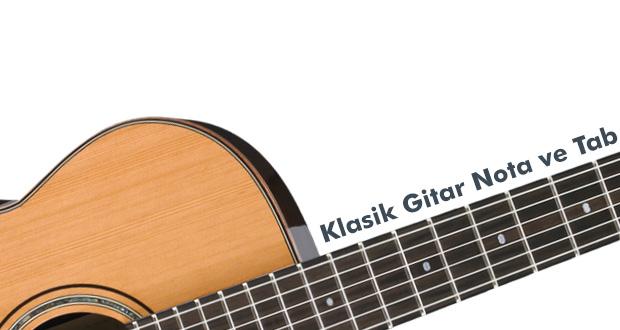 Klasik Gitar Nota