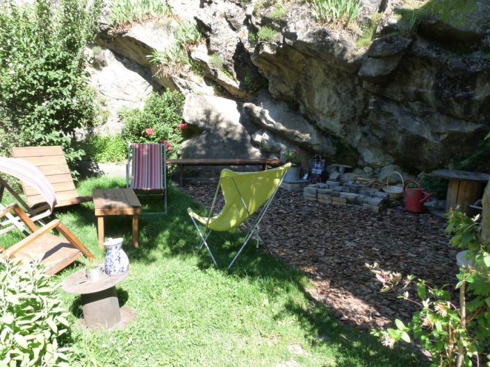 cote jardin a meolans en ubaye pres de barcelonnette