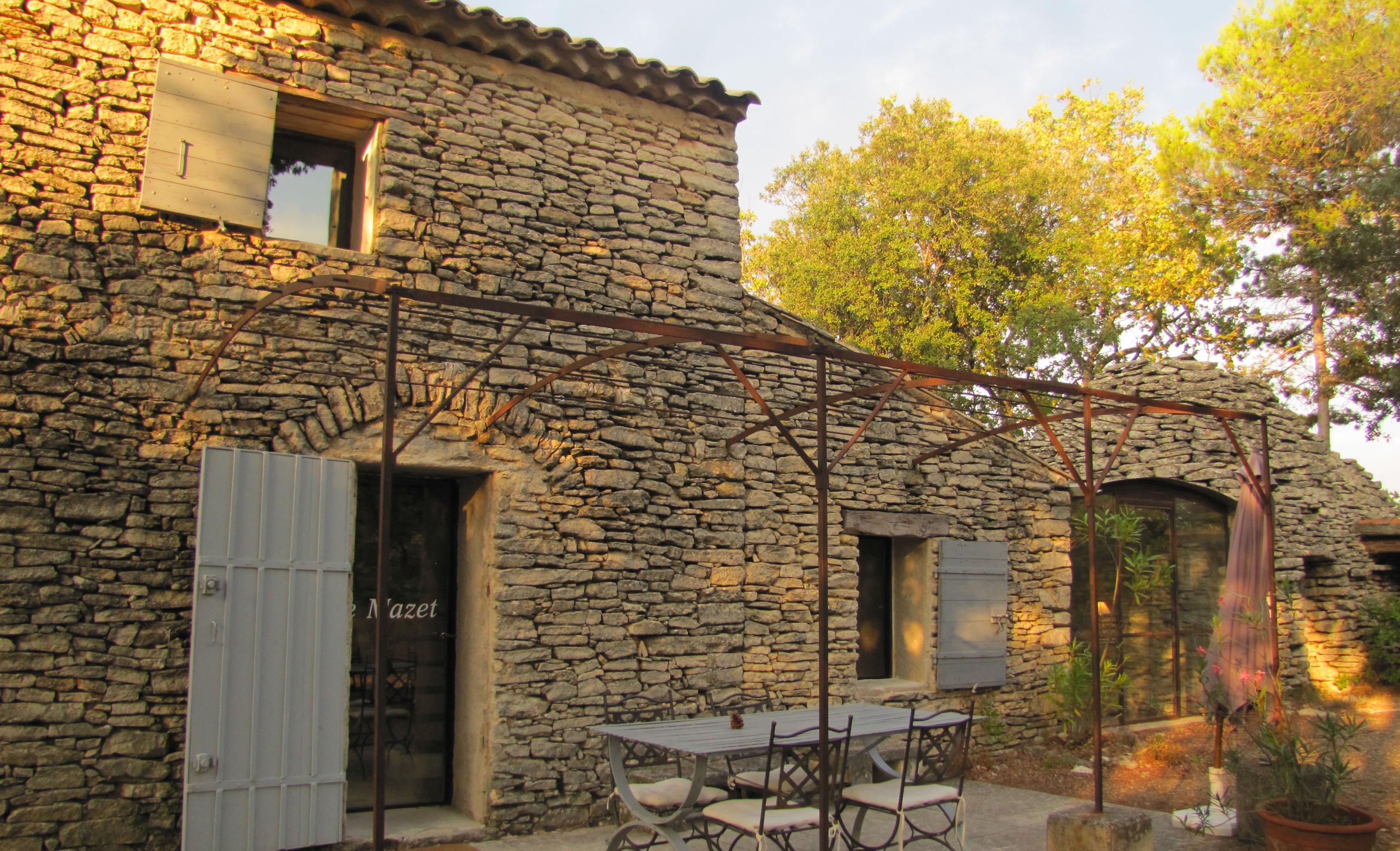 La façade en pierres sèches