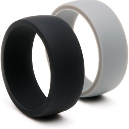 silicone wedding ring silicone wedding band for men 2 rings pack black grey promotion rubber wedding rings Silicone Wedding Ring Silicone Wedding Band For Men 2 Rings Pack Black Grey Promotion u