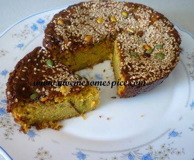 Instant Ondhwa (Handvo) (Savoury lentil cake)