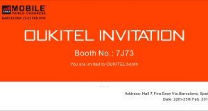 OUKITEL to MWC 2016 invitation