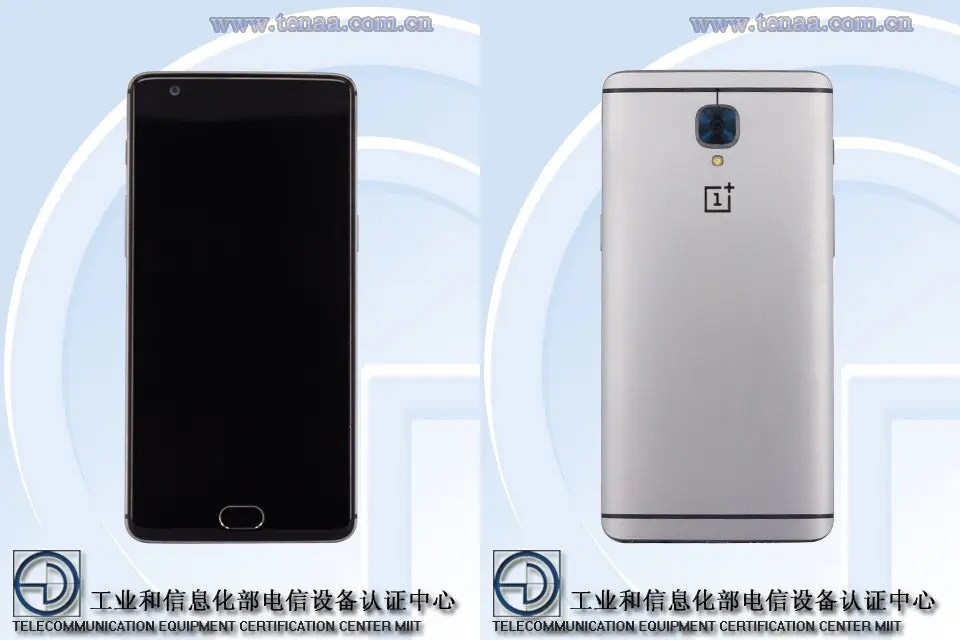 OnePlus 3 shows up at TENNA with same design as render