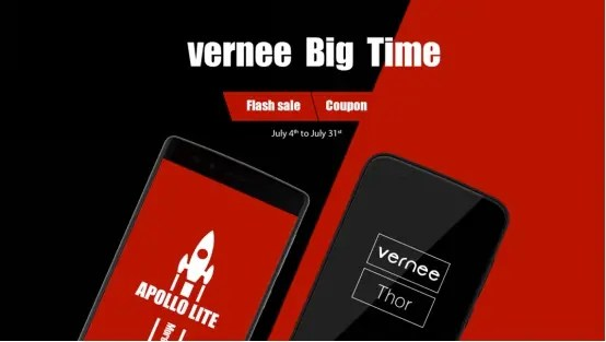 Vernee big sale event with Apollo Lite and Thor models coming soon