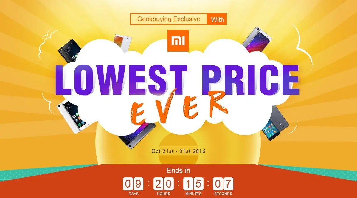 Deals: Xiaomi devices at the 'Lowest Price Ever' at Geekbuying