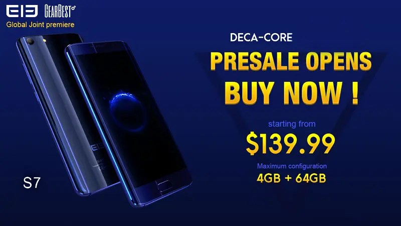 Elephone S7 presales starting today !