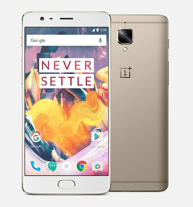 OnePlus 3T Specifications: Soft gold