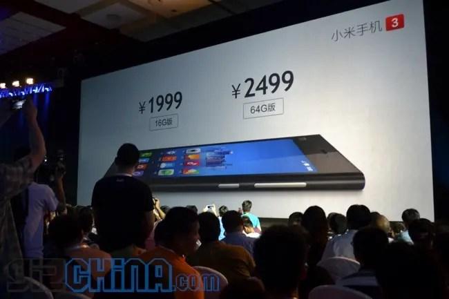 xiaomi mi3 launched