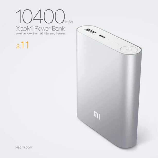 bat Xiaomis 10,400mAh Power Bank costs just $11!