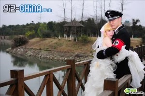 chinese cosplay nazi wedding 300x199 Chinese Nazi Cosplay Marriage!