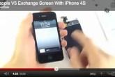 gooapple v5 retina display on iphone 4s video