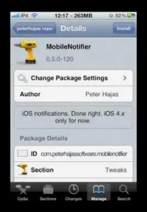 mobile notifier iphone 208x300 Want Android Notification Style Drop down on iPhone? Here's How!