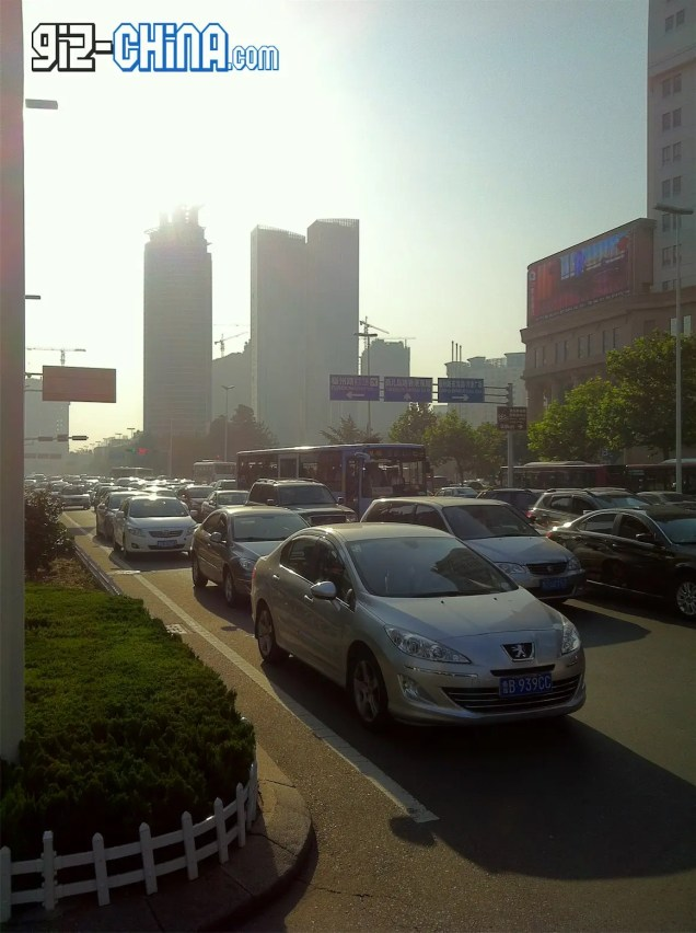 china no car day traffic jam