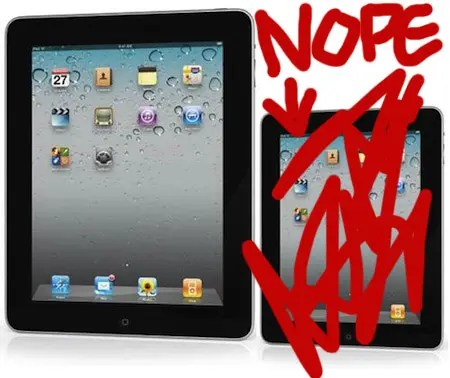 here is how we know that Apple won't be launching a smaller iPad next week