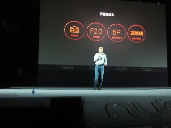 nubia x6 rear camera Update: Nubia X6 launched with 6.44 inch 1080 display, dual SIM and Snapdragon 801