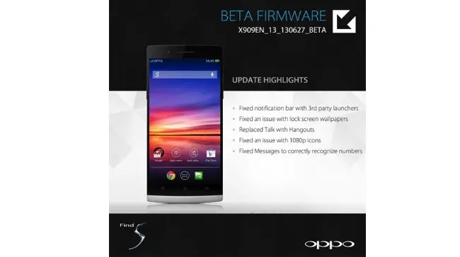 oppo find 5 beta firmware
