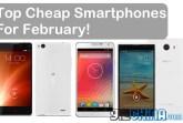 top cheap smartphones feb