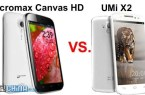 uni x2 vs micromax canvas hd